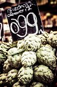 image of sabbatical  - Fresh green Cherimoyas in Central Market Barcelona Spain - JPG