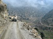 image of humvee  - American Army Humvee in Mountains of Afghanistan - JPG