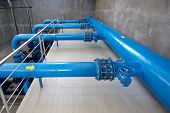stock photo of pipeline  - water pumping station  - JPG