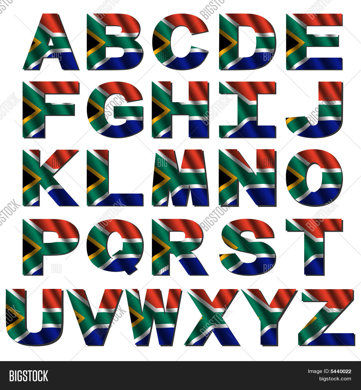 South African Alphabet Letters
