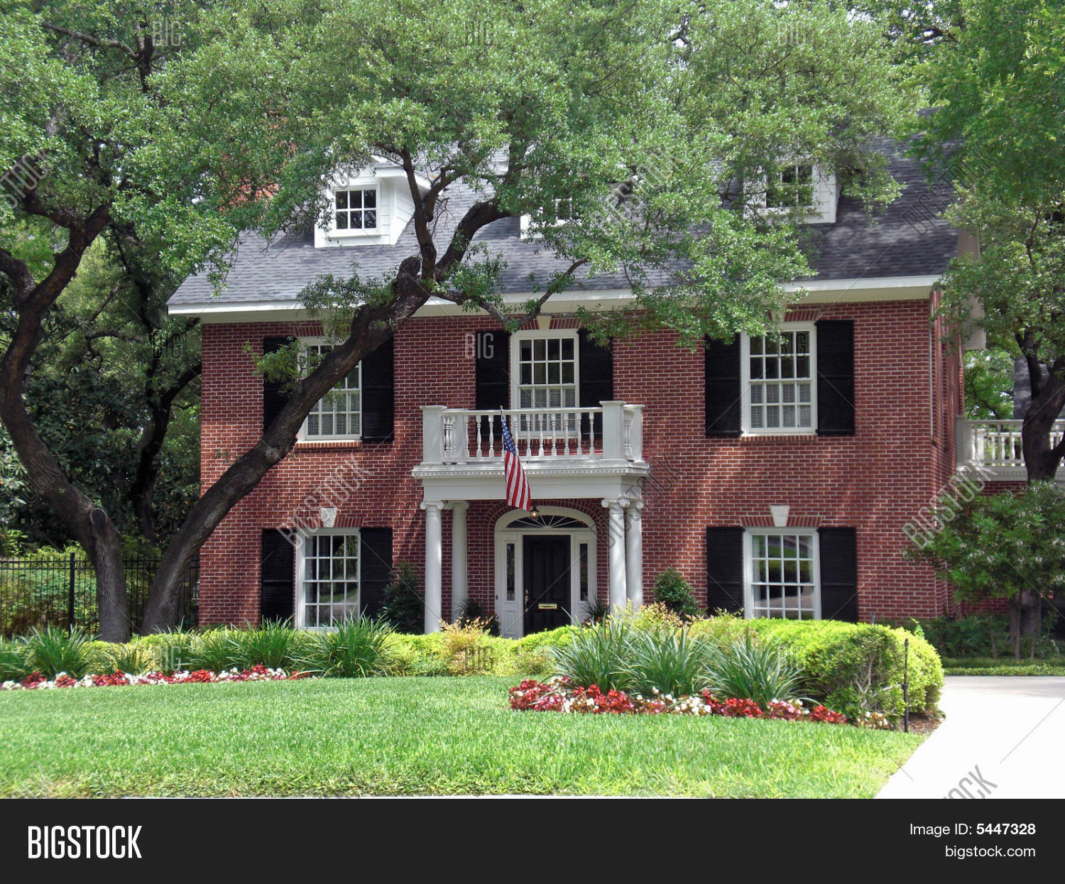 Miraculous Colonial Style House Stock Photo Stock Images Bigstock Inspirational Interior Design Netriciaus