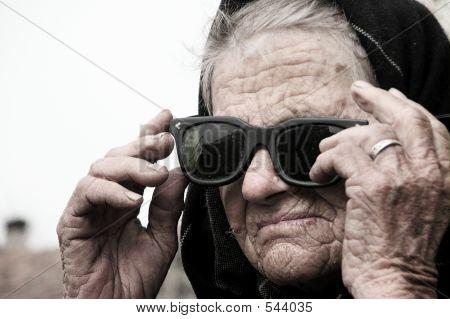 Old Woman Posing