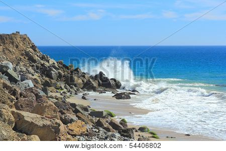 Wave Splash Over Black Rock