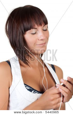 The Nice Girl Listens To Music