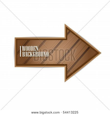 vector wooden background. vector wooden arrow