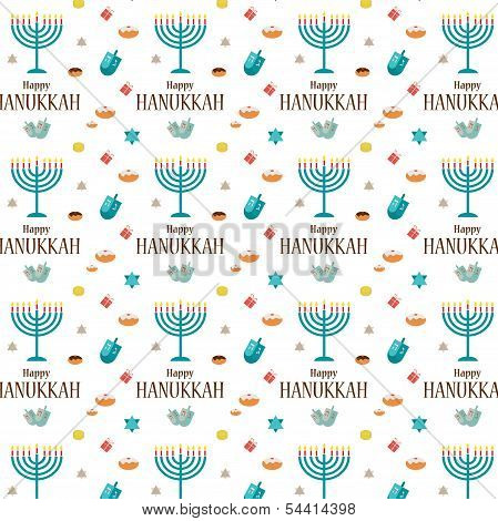 Hanukkah background and template