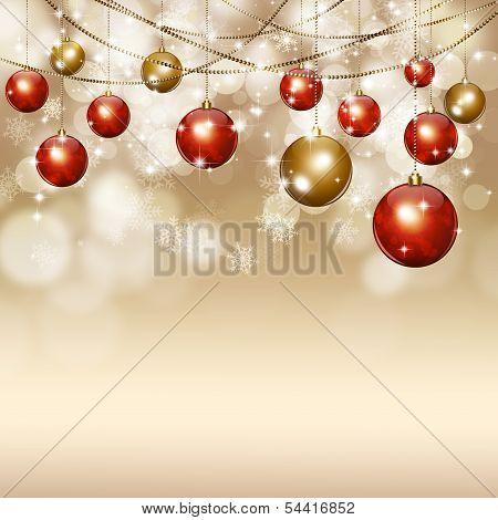 Holiday Golden Magic Background