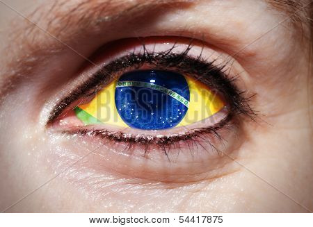 Eye with Brazilian Flag