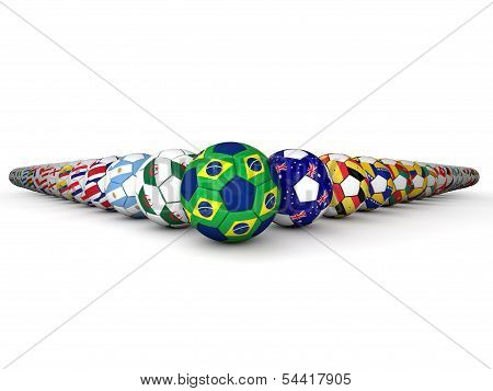 Brazil Football World Cup Footballs