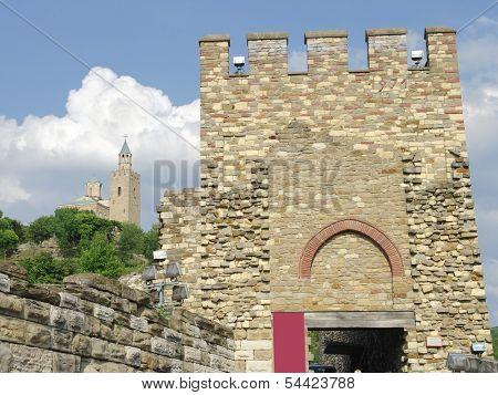 Tsarevets Fortress and Patriarch Church in Veliko Tarnovo, Bulgaria