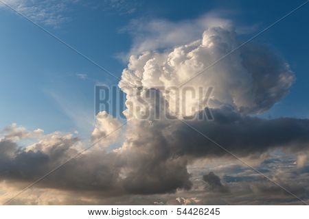 Cumulus Clouds In The Evening