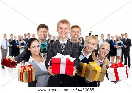 business people present