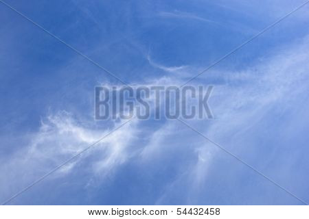 Cloud Texture On Blue
