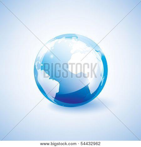 Blue Earth Vector Icon