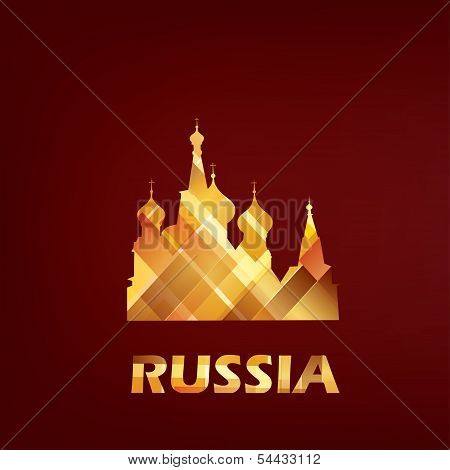 Saint Basil Cathedral Symbol, Russia, Moscow