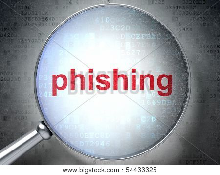 Protection concept: Phishing with optical glass