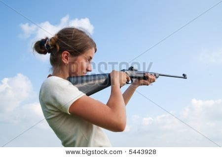 Girl With Air Rifle