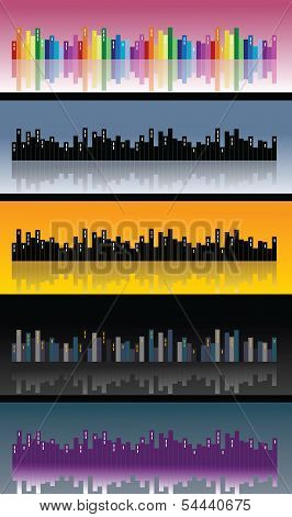 City skyline, vector