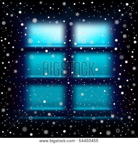 snow night large window