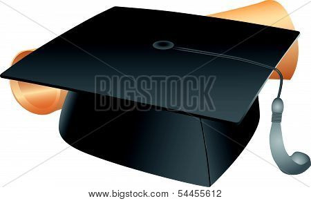 Student Hat And Diploma