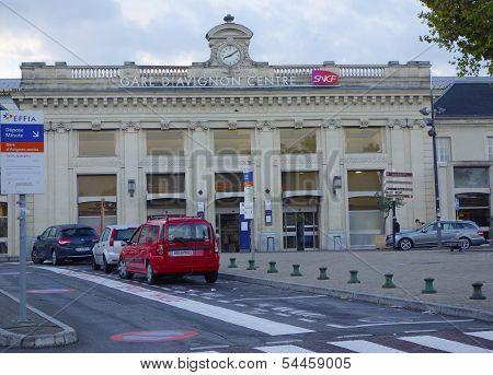 Central railroad station in Avignon, France