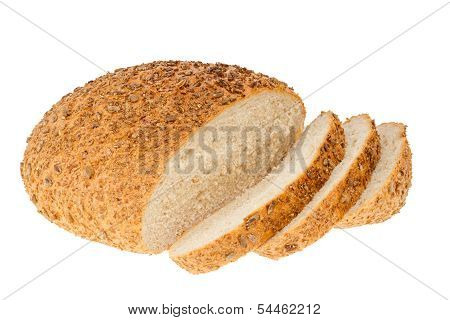 Homemade Bread With Sesame And Sunflower Seeds