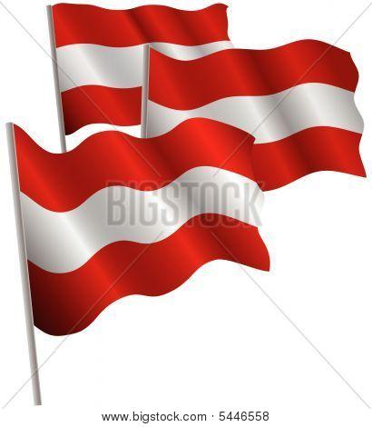 Austria 3D Flag.