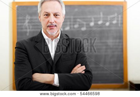 Senior music teacher portrait