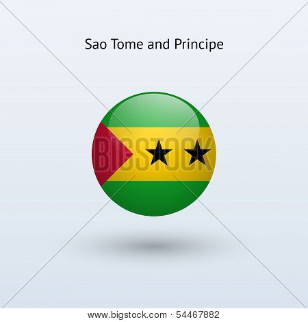 Sao Tome and Principe round flag.