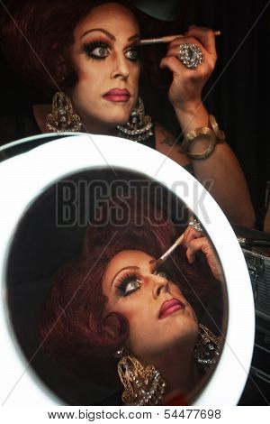 Man In Drag With Makeup