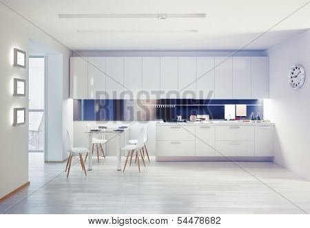 modern kitchen interior. design concept