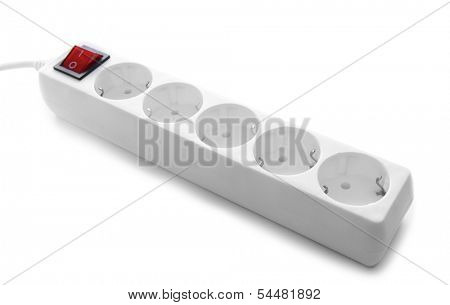 Power surge, isolated on white