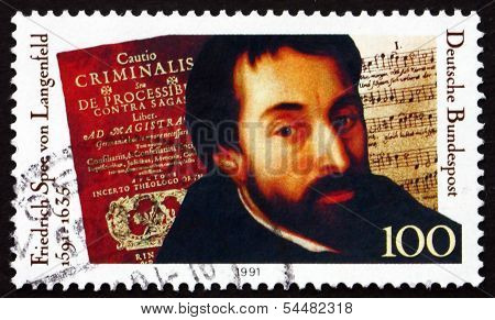 Postage Stamp Germany 1991 Friedrich Spee Von Langenfeld, Poet