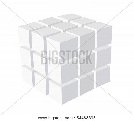 Cube Logo Business Illustration Idea
