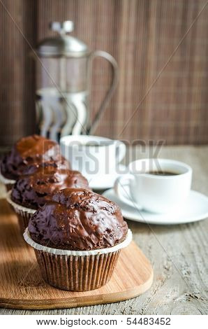 Chocolate Muffins And Coffee