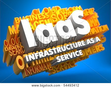 IAAS. Wordcloud Concept.