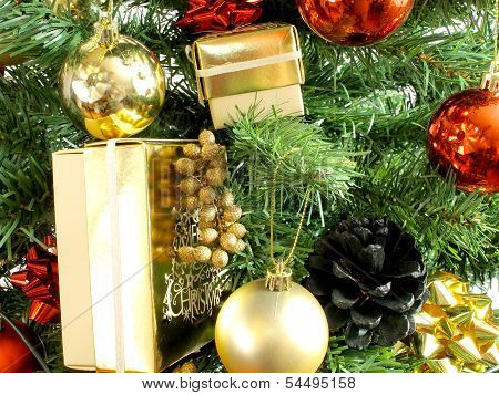 Gifts In A Christmas Tree