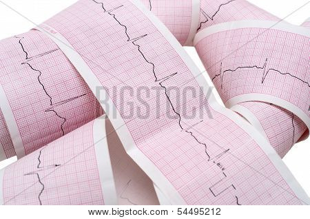 Paper Ecg Graph With Heartbeat Pulse