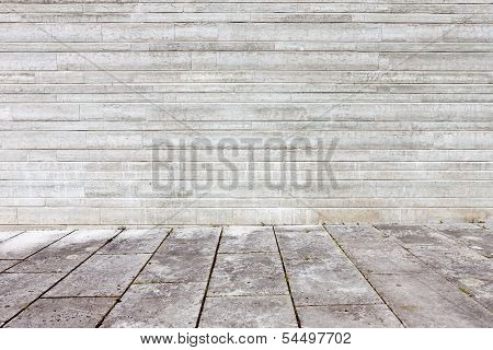 Granite Flagstone Pavement Wall