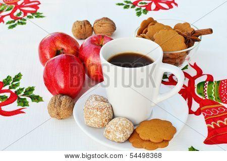 Coffee And Christmas Goodies