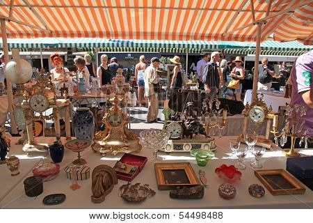 Antique Market In Nice, France