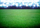 stock photo of arena  - the soccer field and the bright lights - JPG