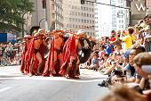 Spartan Warriors Ready Their Spears In Atlanta Dragon Con Parade