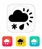 Sleet weather icon.