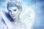 foto of frozen  - Beautiful snow queen - JPG
