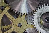 clock gears and cogs macro background