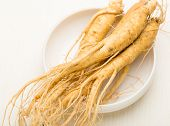 pic of root-crops  - Fresh Ginseng in the bowl - JPG