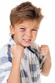 stock photo of bruises  - Portrait of boy with bruise - JPG