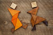 pic of tangram  - a couple of dancers or martial artists  - JPG
