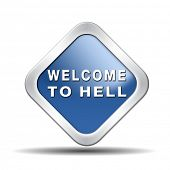 foto of sinner  - welcome to hell evil sinner go to the devil disaster - JPG